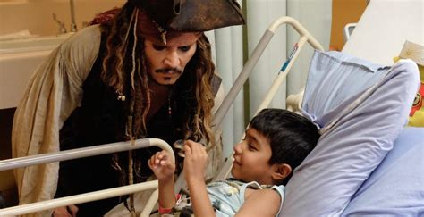 Johnny Depps Hospitalized by Johnny Depp Surprises Bc Children S Hospital Patients As