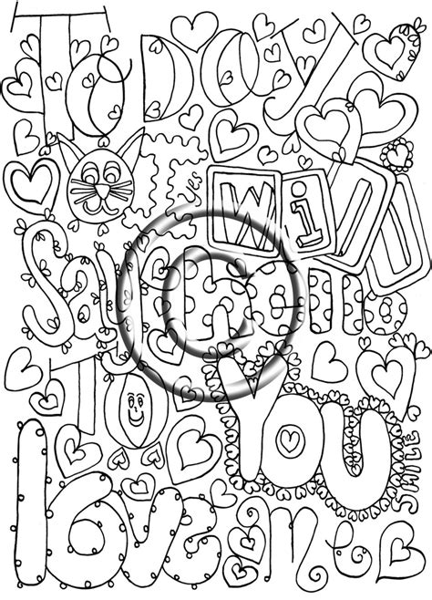 abstract coloring pages with words 51 best images about zentangle coloring pages on pinterest