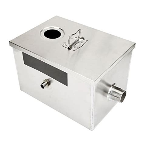 grease trap with removable baffle made carbon steel by beamnova 8lb 5gpm gallons per minute stainless steel