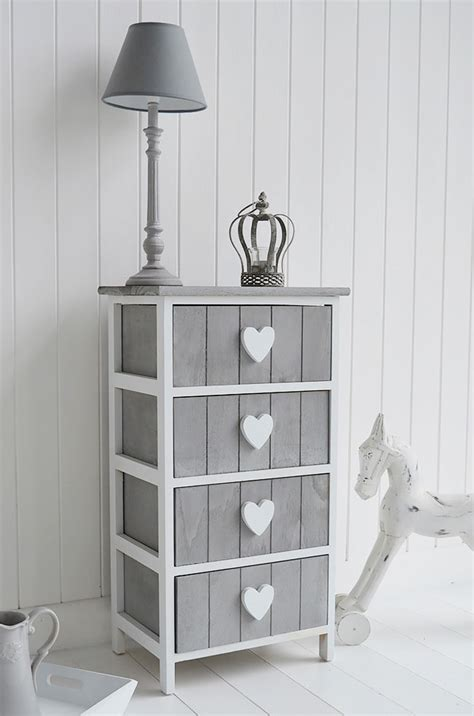 White And Grey Bathroom Grey And White Furniture Heart Cottage Drawers Large