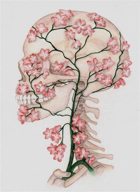 Flower Skull skull inspiration flower skull drawing