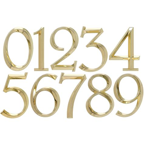 address numbers 6 inch address numbers polished brass in house numbers