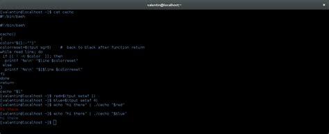 bash echo color shell script bash color echo problem with n option
