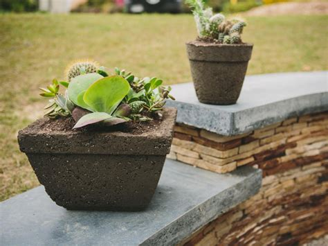 Large Hypertufa Planters by How To Make Hypertufa Pots Hgtv