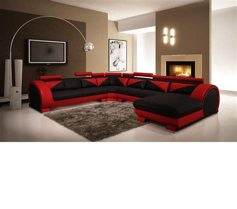 red and black leather couches dreamfurniture com modern red and black leather