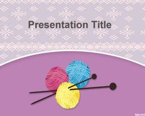 knitting templates knit powerpoint template