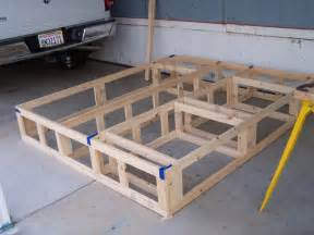 Making Platform Bed With Storage How To Build A Queen Platform Bed With Storage Quick