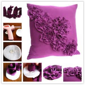 how to make beautiful diy rosette pillow how to