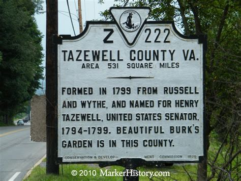Tazwell County Records Tazewell County Z 222 Marker History