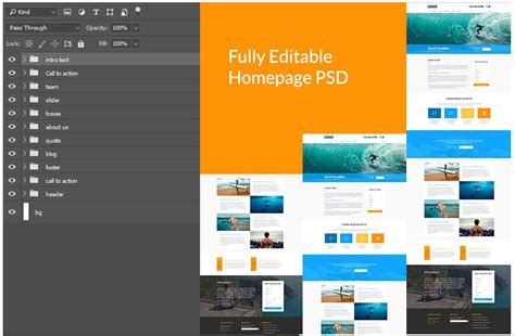 Free Photoshop Template Divi Den Divi Layout Templates