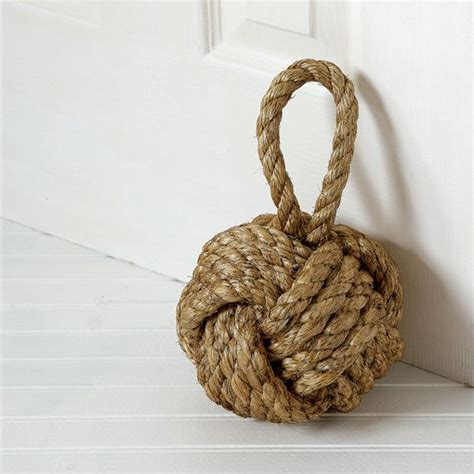 Elegant Home Decor Catalogs by Monkey Fist Knot Doorstop The Green Head