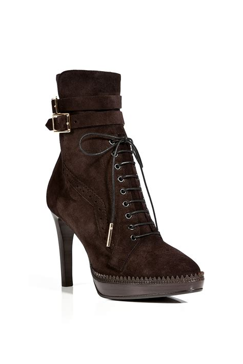 chocolate brown boots burberry suede manners ankle boots in chocolate in brown