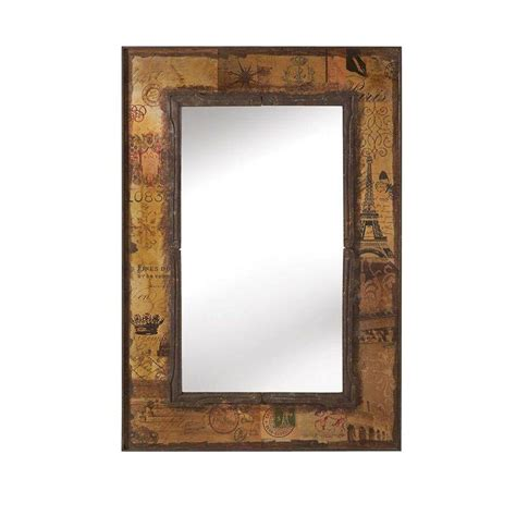 deco mirror 16 in w x 26 in h x 5 in d framed single home decorators collection roshni 38 in h x 26 in w