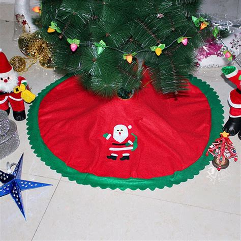 90cm santa claus tree skirt christmas tree skirts xmas