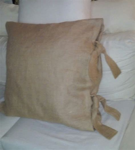 Burlap Pillow Shams by Wide Ties 26 X 26 Burlap Pillow Shams With 2 1 2 Inch Tie