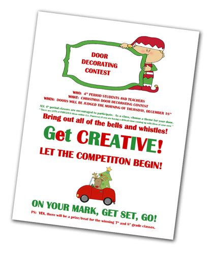 office holiday decorating contest flyer contests give students staff chance to win special prizes news mcculloch