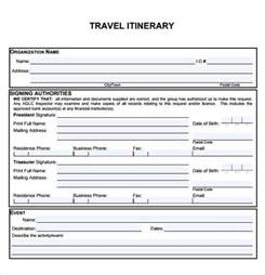 travel itinerary template travel itinerary template 5 documents in pdf