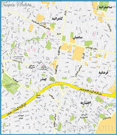teheran map tehran map travelsfinders