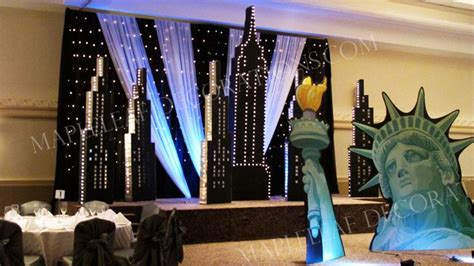 city decorations new york prom theme decorations studio design