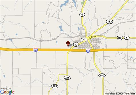 cisco texas map map of americas best value inn cisco