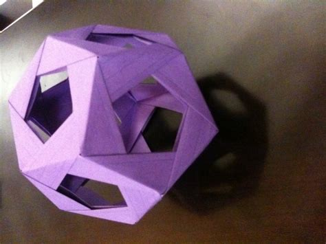 How To Make A Paper Dodecahedron - image gallery origami dodecahedron