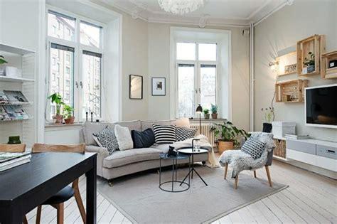 kleine wohnung einrichten intelligente wände dekor schlafzimmer skandinavisch