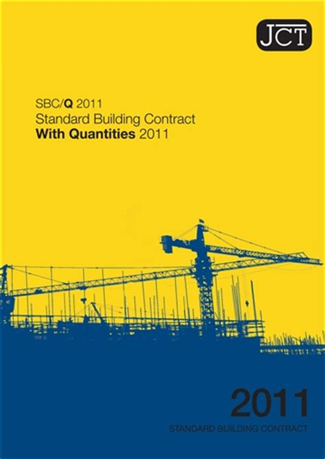 jct design and build contract 2011 amendment 1 standard building contract with quantities