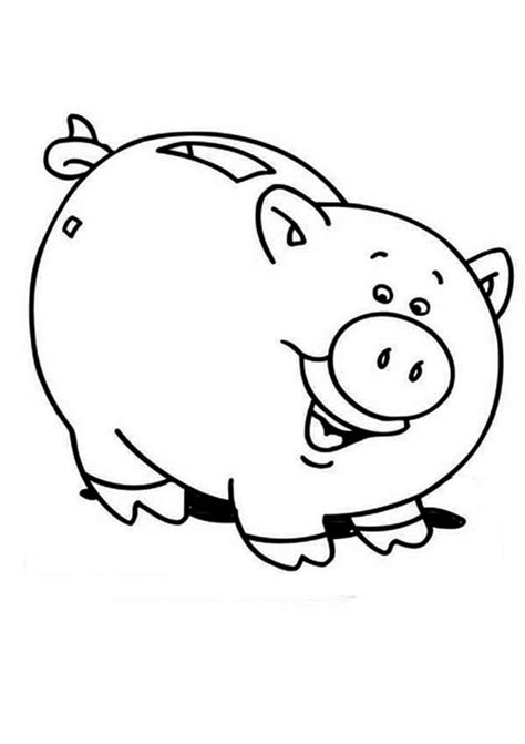 Piggy Bank Coloring Worksheets Coloring Pages Piggy Bank Coloring Page