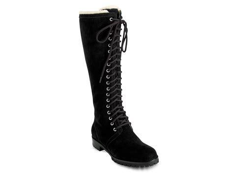 cole haan air becca boots in black black suede lyst