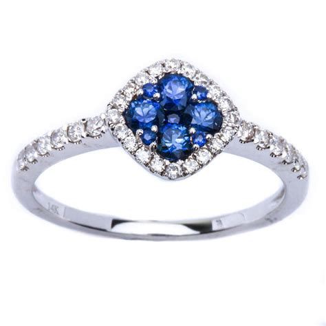67ct blue sapphire antique style 14kt white