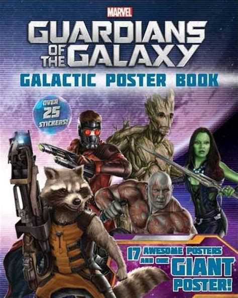 libro marvels guardians of the marvel guardians of the galaxy 18 awesome posters and one giant poster over 25 stickers