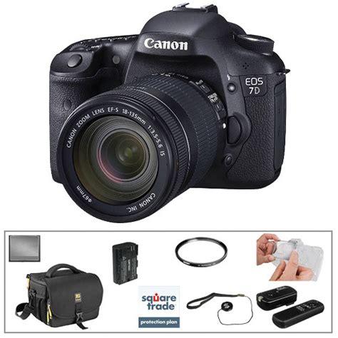 Canon Eos 7d Lensa Kit 18 135mm 18 Mp canon eos 7d dslr with 18 135mm lens basic kit b h