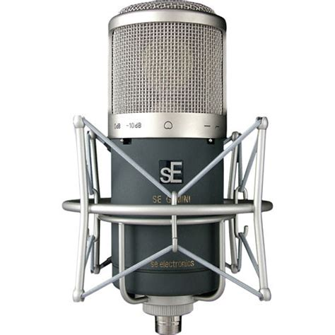 se electronics gemini ii dual cardioid condenser microphone with high pass filter and 10db