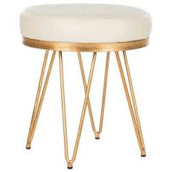 Gold And White Stool by Cb2 Sheepskin Stool