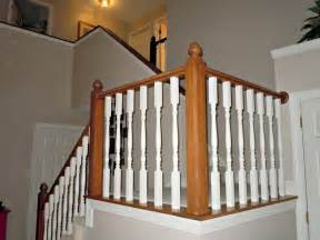 white banister rail updating a painted banister with gel stain