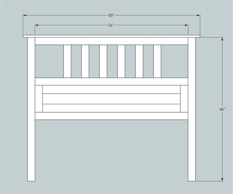 standard full size bed ana white full size slatted headboard diy projects