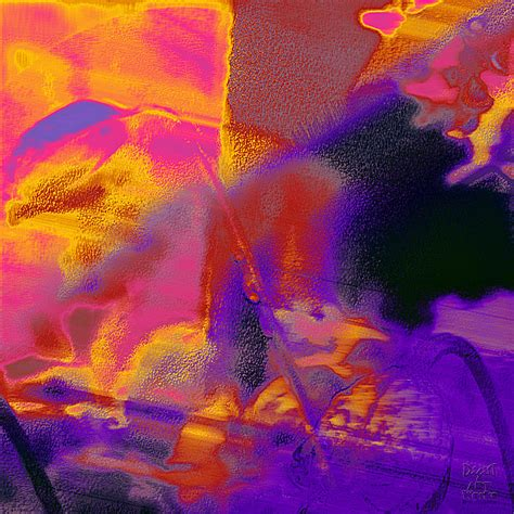 Magenta Duvet Cover Red Orange Purple Abstract Digital Art By Dee Flouton