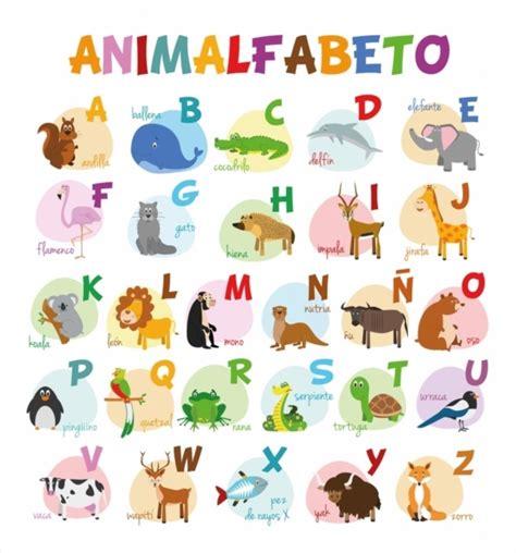 imagenes de animales por abecedario ilustraci 243 n de vector alfabeto ilustrado con animales para
