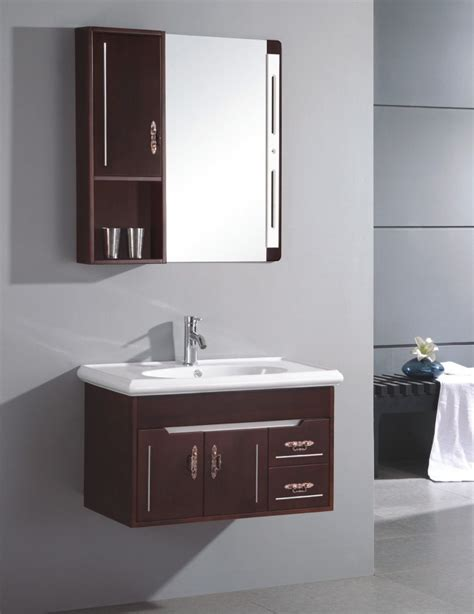 china small wall mounted single sink wooden bathroom