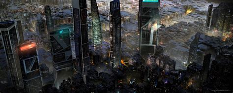 artstation  future dystopian mega city miroslav misic