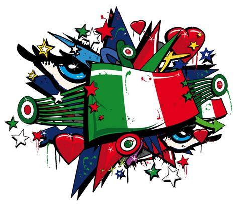 bandiera forza italia squadra azzurra graffiti pop art tag