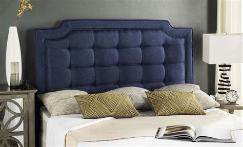 Navy Tufted Headboard by Sapphire Navy Tufted Linen Headboard Headboards
