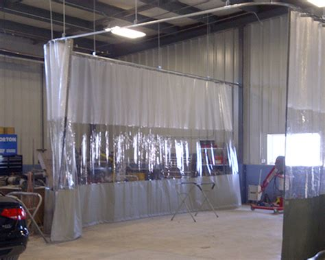 industrial curtain track system curtains dividers shaver industries