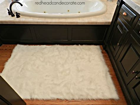 faux fur bathroom rugs affordable faux sheep skin area rug redhead can decorate