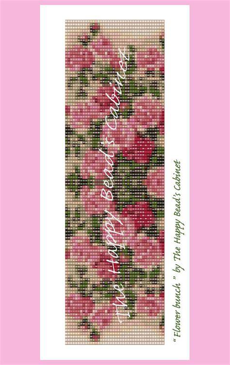 flower bead loom patterns items similar to bead loom pattern quot flower bunch
