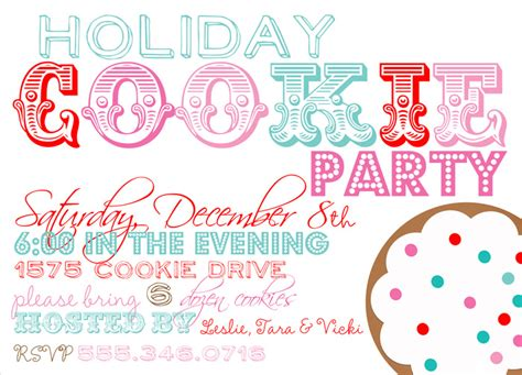 7 Best Images Of Holiday Party Flyer Christmas Cookie Exchange Flyer Template Employee Cookie Flyer Template