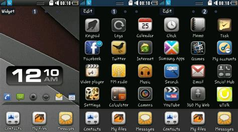 themes for samsung galaxy wave 525 my wave 525 four black background themes for samsung wave 525