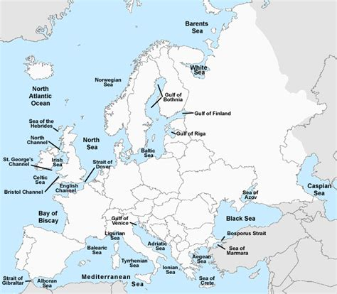 Test your geography knowledge   Europe bodies of water