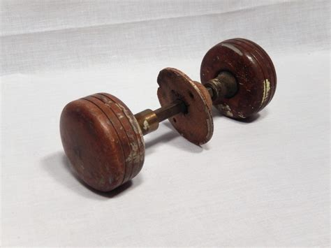 Door Knobs Woodies Antique Wood Metal Door Knob Set Door Hardware By