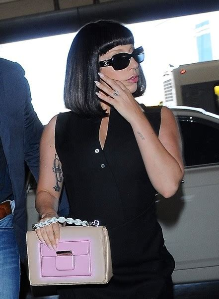 Lady Gaga Lettering Tattoo Body Art Lookbook Stylebistro Tattooing Spotlight Ladyl